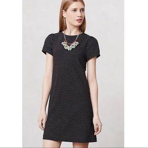 Maeve Anthropologie Polka Dot Cap Sleeve Dress